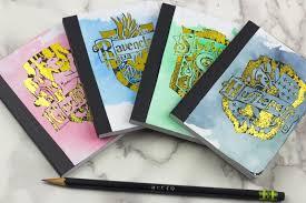 hogwarts inspired house mini notebooks
