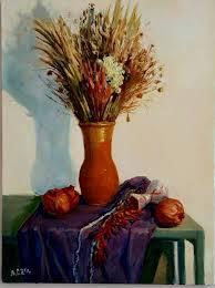 Still-life with pomegranates Painting by Alex Surin   Saatchi Art