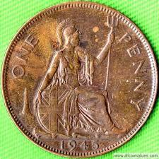 1945 Uk Penny Value George Vi