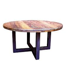 round wood and metal end table coffee reclaimed com decorating ideas 10