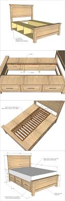 full size storage bed plans. How To Build A Farmhouse Storage Bed With Drawers Full Size Plans