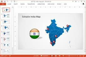 free editable maps editable india map download editable powerpoint map for your country