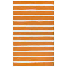 rizzy home azzura hill orange striped 5 ft x 8 ft indoor outdoor