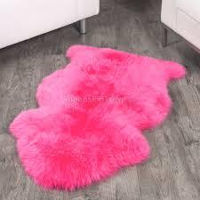 hot pink sheepskin rug 2x3 5 ft