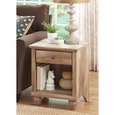Better Homes & Gardens Crossmill Accent Table, Weathered Finish ...
