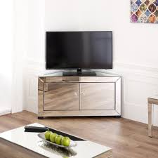 Mirrored Cabinets Living Room Venetian Mirrored Corner Tv Cabinet To Fit Tvs Up To 44