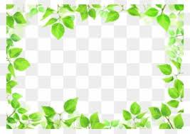 Green Leaves Plants Frames Transparent Leaf Circle Border Free