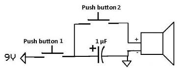 how to apply a pulse to a speaker using a capacitor capacitor supplying pulse to speaker