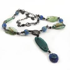 wire wrapped recycled glass pendant. Ancient Roman Glass Recycled African Necklace Wire Wrapped Pendant E