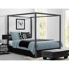DHP Rory Metal Canopy Grey Queen Size Bed Frame DE23556 - The Home Depot