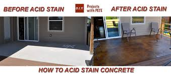 Stained concrete patio gray Front Porch Wood Stamp Before And After Acid Staoin Diy Pete How To Acid Stain Concrete