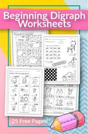Phonics worksheets and online activities. Beginning Digraph Worksheets Free Word Work