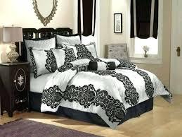 black and white damask comforter damask bedding set black and white damask 5 piece bedding comforter