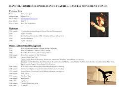 Resume Dance Resume Template