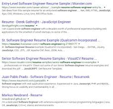 google resume search example with added skills usability engineer