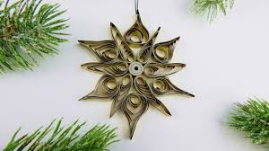 Christmas Tree Ornament Quilling Star Diy Xmas By