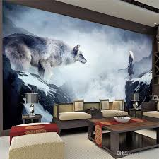 fantasy ice world wolf wallpaper animal wallpaper custom 3d 3d wall decor
