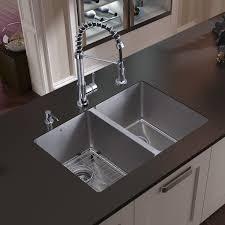 undermount kitchen sink stainless steel: vigo double undermount stainless steel kitchen sink