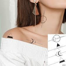 Vankirs Little линии геометрический поддельные татуировки стикеры