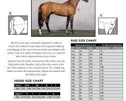 orchard equestrian ltd rug size chart