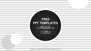 Stripe Templates Black Circles On A Background With Stripes Powerpoint Templates
