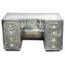 french rococo style desk with antiqued mirrored top melissa als so sed viyet furniture tables bradley usa chanelle geometric mirror design ideas desk style