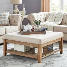 Sunpan's coffee table collection will compliment any residential or contract space. Homevance Contemporary Tufted Upholstered Coffee Table Kohls In 2021 Upholstered Coffee Tables Storage Ottoman Coffee Table Living Room Decor Rustic