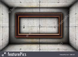 big frame on concrete wall royalty free stock ilration