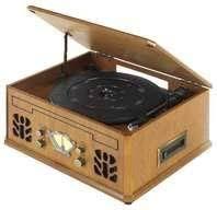 Antique Wood <b>4 in 1 Nostalgic</b> Retro Wooden Music Centre ...