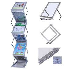 Catalogue Display Stand Mesmerizing A32 Size Premium Quality Aluminium Floor Standing Brochure Leaflet