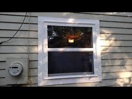 diy window install on a blank