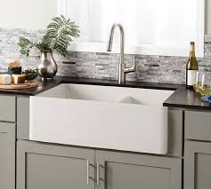 impressive farmhouse sinks for kitchens double bowl concrete kitchen sink native trails