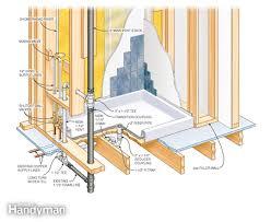 figure a shower base drain details
