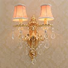 gold wall sconce with lamp textile shade modern wall lights for bedroom wall sconces living room
