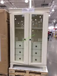 klaussner glass door bookcase