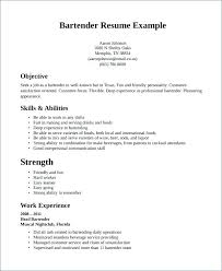 Bartender Resume Job Description Mesmerizing Bar Tender Resume Bartenders Example Bartender Sample Server Skills