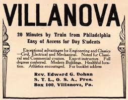 best villanova university images villanova  advertisement for villanova university 1915
