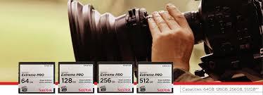 Thẻ nhớ CFast 2.0 SanDisk Extreme PRO 3500X 256GB 525/450 Mb/s