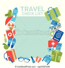 Travel Check List Template Background For Checklist For Packing Planning Of Vacation Suitcase With Items