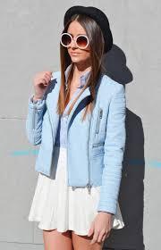 zara biker pastel coloured faux leather zip jacket size s m l xl ref 4341 023