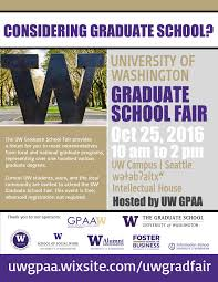 sp the word uw graduate school fair oct th undergrad advertisements