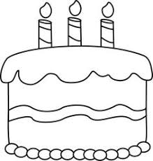 birthday cake clip art black and white. Simple White Black And White Birthday Cake Printables Pinterest Inside Clip Art And E