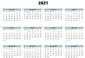 Weekly Calendar Free Print Free Printable 2021 Calendar Excel Word Monthly Template