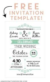 Design Your Own Wedding Invitations Template Free Printable Wedding Invitation Template Diy Ideas Pinterest