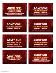 Show Ticket Template 16 960 Customizable Design Templates For Tickets Template