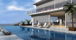 infinity pool beach house. Picture Of Long Rectangle Infinity Pool Steps Away From Indoor-outdoor Style Tropical Home Beach House