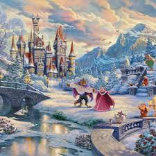 Schmidt disney premium thomas kinkade puzzle. Disney Art Thomas Kinkade Studios