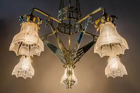 art nouveau chandelier 1900s for at pamono
