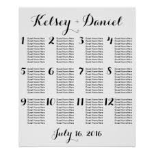 Wedding Seating Chart Poster Board Wedding Guest Template Online Charts Collection