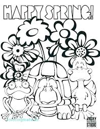 Spring Coloring Pages Free Printable Coloring Spring Coloring Pages